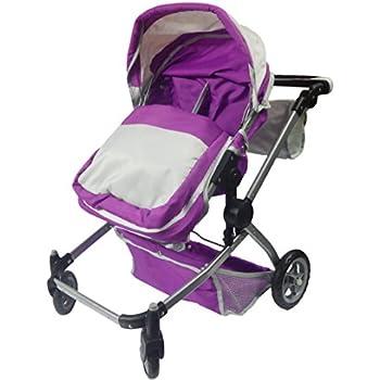 Deluxe Twin 2 in 1 Doll Stroller/Pram