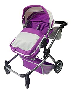 Deluxe Twin 2 in 1 Doll Stroller/Pram: Amazon.co.uk: Toys ...