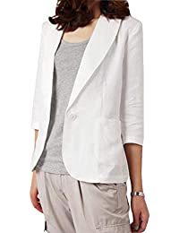 superior quality 9f797 930d6 Amazon.it: giacca bianca cotone - Tailleur e giacche / Donna ...