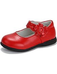 b75c10154b422 CCZZ Enfants Flat Princess Chaussures Fille Semelles Souples Mary Jane  Ballerine Floral Décor Casual Chaussures en