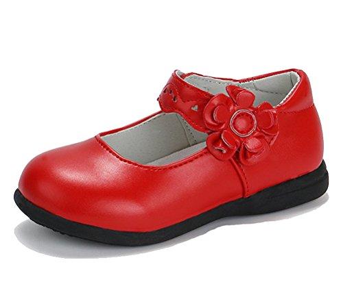 CCZZ Zapatos Niña De Flor Moda Plana Princesa Antideslizante
