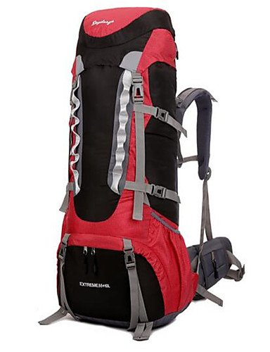 HWB/ 56-75 L Rucksack Camping & Wandern / Klettern / Reisen Draußen / Legere SportWasserdicht / Wärmeisolierung / Skifest / tragbar / Black