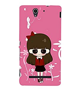 Lovely Girl 3D Hard Polycarbonate Designer Back Case Cover for Sony Xperia C3 Dual :: Sony Xperia C3 Dual D2502