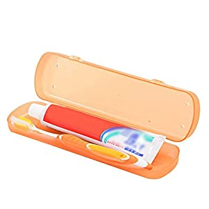 Demarkt Zahnbürste Zahnpasta Box Behälter Aufbewahrungsbox für Reisen Camping aus Kunststoff Grün 21 x 5.6 x 3.3 cm