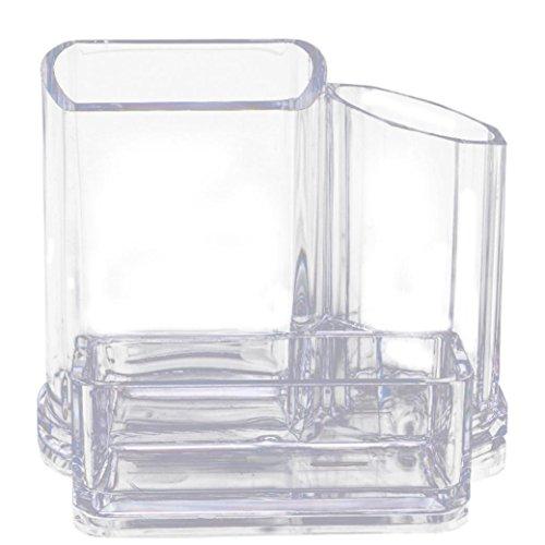 LCLrute Kosmetische Aufbewahrungsbox Klaren Acryl Make-up Cosmetic Organizer Lippenstift Pinsel Display Halter Ständer (13.3 x 9.5 x 11cm)