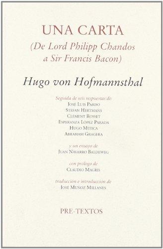 Una carta (Ensayo) por Hugo Von Hofmannsthal