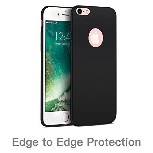 Hülle für iPhone 8 /iPhone 7, Senisttech iPhone 8 / 7 Ultra Slim Schutzhülle ,Anti-Scratch Shockproof und Schutz vor Fingerabdruck, Staub Handyhülle Case für iPhone 8 / 7 4.7 Zoll (Schwarz) Schwarz