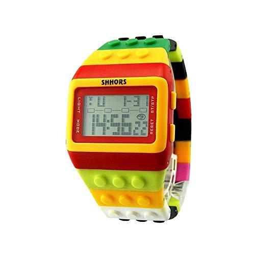 HEATLE Uhr Ansehen 1PC Gute Qualität Unisex Buntes Digital Armbanduhr Lässige Mode Wasserdicht Mehrfarben Optional (1PC, F)