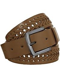 EyeCatch - Forest Mens Genuine Leather Belt