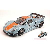 Welly WE0350 Porsche 918 RSR N.22 SALONE Detroit 2011 1:24 MODELLINO Die