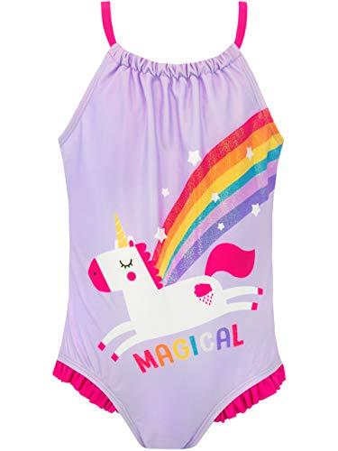 Harry Bear Bañador para Niña Unicornio Morado 5-6 Años