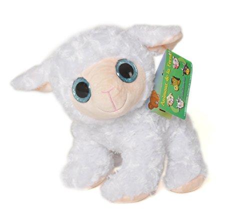 Animales de la Granja - Peluche Oveja con ojos brillantes (25cm) - Calidad Super Soft