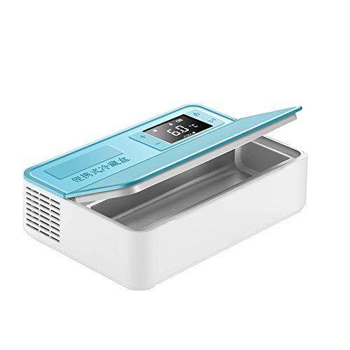 Preisvergleich Produktbild Medication Cooler Travel Hard Case,  tragbare Kühlbox für Diabetes-Insulin,  2-12 ° C Temperatureinstellung,  robust und Abriebfest,  blau