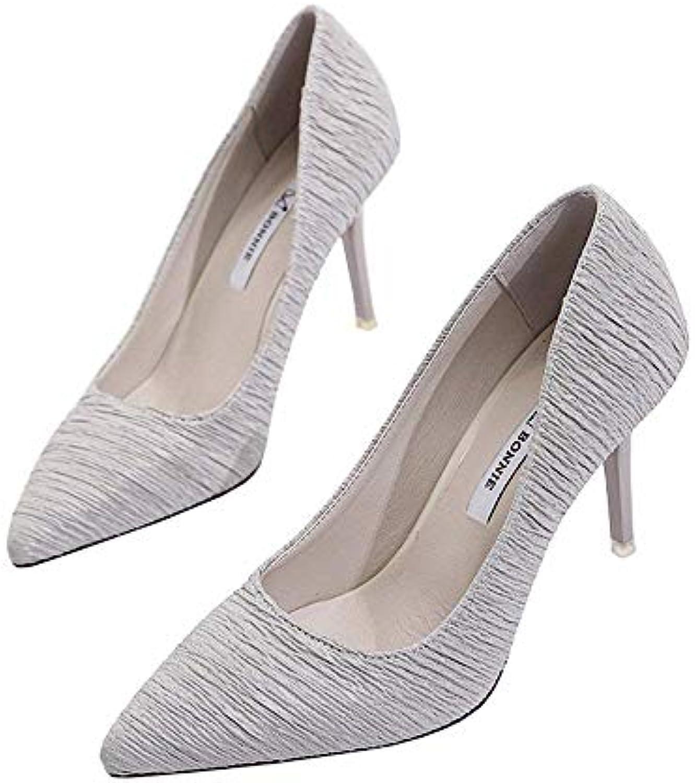 Eeayyygch Chaussures 9cm Korean Pointues Talons Hauts, Peu Printemps Bouche Peu Hauts, Profonde Beau Travail, Discothèque...B07JMPG77XParent 740ca7