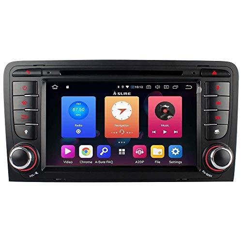 "7\"" Android 9.0 32GB Autoradio DVD GPS Navi für Audi A3 S3 RS3 8P 8V 8PA DAB+ 2GB RAM untersützt DAB+ OBD Mirrorlink 4G LTE TPMS Lenkrad"
