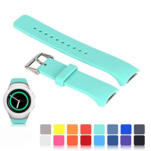 Für Samsung Gear S2 SM-R720/R730 Wiedereinbau UhrBand, iFeeker Zubehör Soft Silikon Armband Smartwatch Band für Samsung Galaxy Gear S2 SM-R720/SM-R730