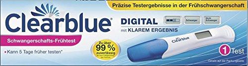 Clearblue Digital Schwangerschafts-Frühtest mit Klarem Ergebnis, 1 Test