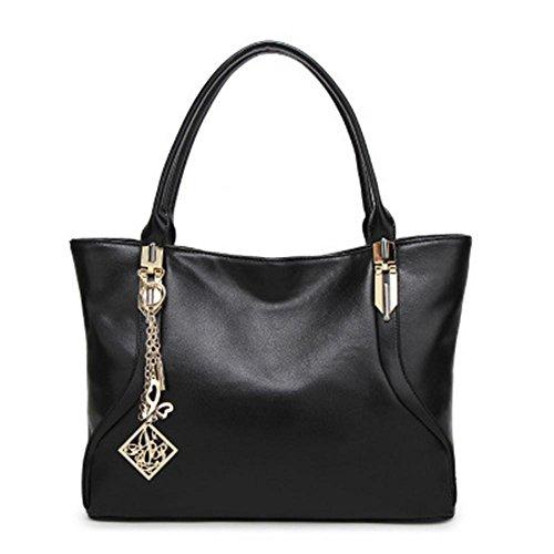 Sacchetto di spalla casuale di modo delle signore della borsa Black