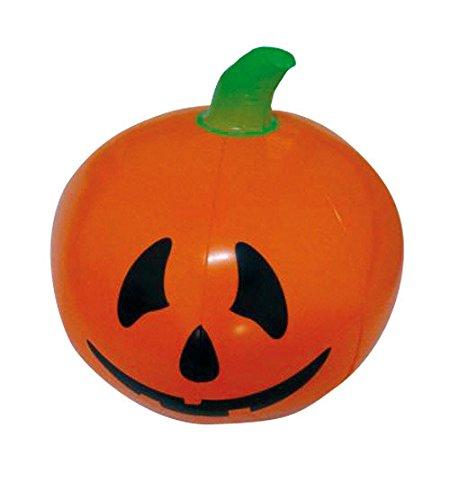 Aufblasbarer Kürbis Halloween Party-Deko orange-schwarz-grün 110cm (Halloween Aufblasbare)