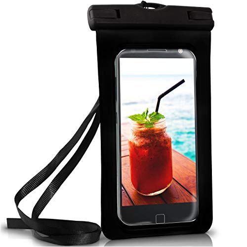ONEFLOW Wasserdichte Hülle für Motorola + Lenovo | Full Cover in Schwarz 360° Unterwasser-Gehäuse Touch Schutzhülle Water-Proof Handy-Hülle für Moto G6 G5s E4 X4 Z2 One UVM Case Handy-Schutz