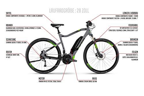 28 Zoll Haibike Sduro Cross 4.0 E-Bike Elektro Fahrrad Pedelec 500Wh Shimano XT 20 Gang Gr.M