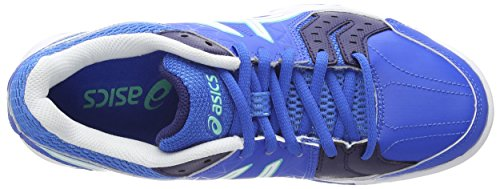 Asics Gel-Squad, Chaussures de Handball Femme Bleu (Electric Blue/White/Navy 3901)