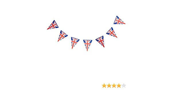 Legs Galore VE DAY BUNTING Red White Blue Triangle POLYESTER 7m 25 Flags 8TH MAY 75th