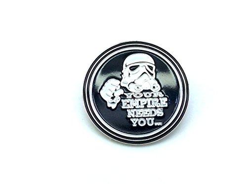 Your Empire Needs You Stormtrooper Star Wars Cosplay Metal Pin Badge
