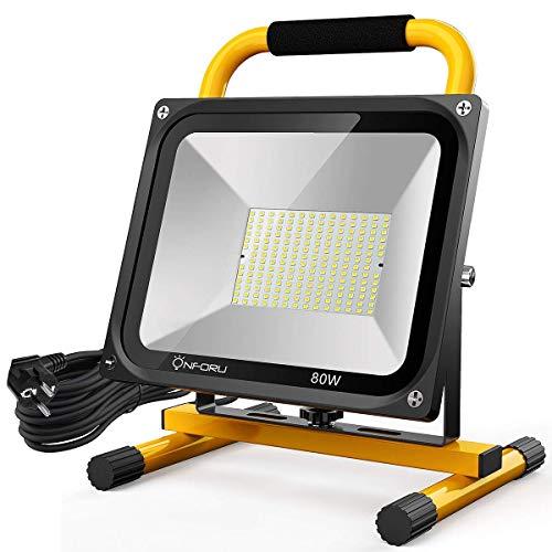 Onforu 80W LED Luz de Trabajo, 7600LM 5000K Foco de Obra con...