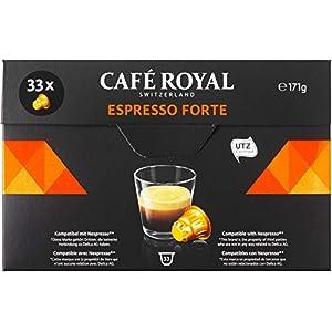 Café Royal Espresso Forte Box per Nespresso - Confezione da 33 Capsule