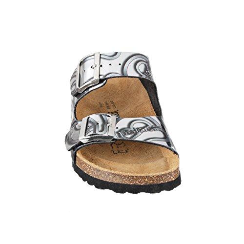 JOE N JOYCE London SynSoft Mirror sottopiede morbido sandali stretto Silver