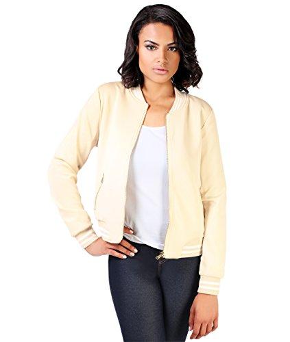 KRISP Damen Leichte College Jacke Gold Zipper - 2