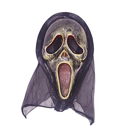 Halloween-Maske, Ghost Festival Beängstigend Beängstigend Retro Toy Antiken Vampir Maske Skull Scream,Ghost4