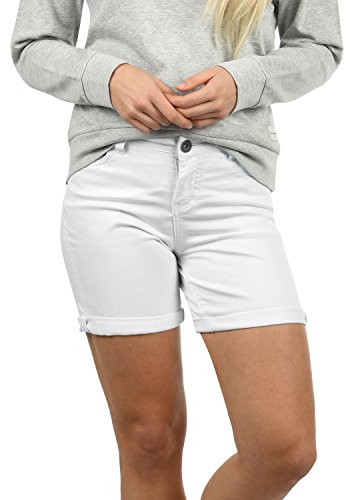 DESIRES Lila Damen Jeans Shorts Kurze Denim Hose Aus Stretch-Material Skinny Fit, Größe:34, Farbe:White (0001) -