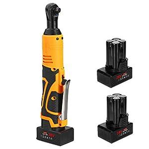 BENPAO Juego de Llaves de trinquete eléctricas sin Cable con batería Recargable de Gran Capacidad y Kit de Cargador de 3/8″
