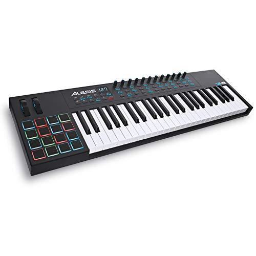 Alesis VI49 - Clavier Maître USB-MIDI 49 Touches, 16 Pads, 12 Potentiomètres Assignables, 36...