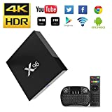 NBKMC-2018 4K TV Box Android【2G + 16G】 Quad-Core Smart TV Box + Clavier sans Fil (Couleurs modifiables) Boîtier Intelligent et 64 Bits True 4K Play H.265 WiFi 2.4Ghz X96