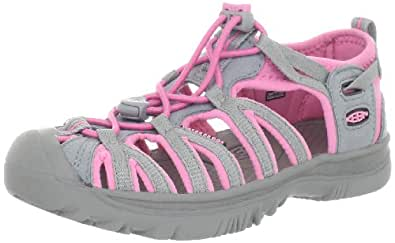 Keen Unisex - Child WHISPER Y-NEUTRAL GRAY/SACHET PINK Sandals Pink Pink (NEUTRAL GRAY/SACHET PINK) Size: 39