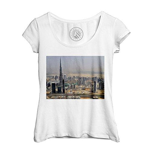 T-shirt Femme Col Rond Echancré dubai emirats arabes unis burj khalifa