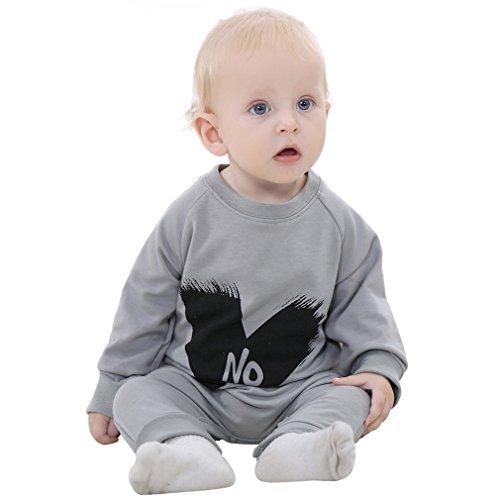 MICHLEY Baumwolle baby mädchen und jungen strampler Bekleidung gray 70cm