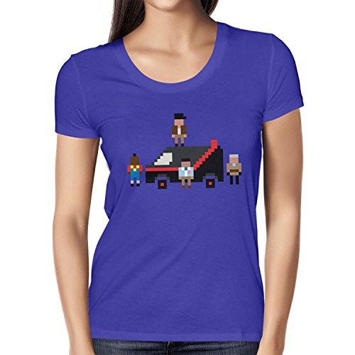 NERDO - The Pixel Team - Damen T-Shirt Marine