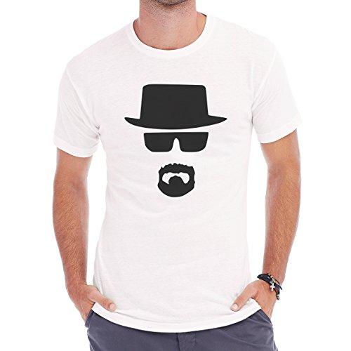 Heisenberg Vector Face Black Herren T-Shirt Weiß