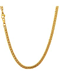 """U7 Stainless Steel/Black Metal/ 18K Gold Plated Chain 3.5mm 6mm or 9mm Franco Curb Chain Necklace, Length 22"""" 26"""" 28"""" 30"""""""