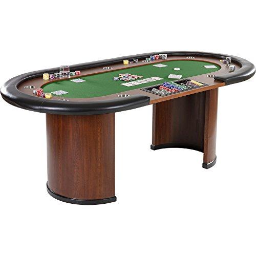 Maxstore Pokertisch ROYAL Flush, 213 x 106 x75 cm, Farbwahl, Gewicht 58kg, 9 Getränkehalter, gepolsterte Armauflage - 5