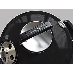 Landmann Holzkohle - Kugelgrill Black Pearl comfort, Schwarz, 67 x 55 x 88 cm