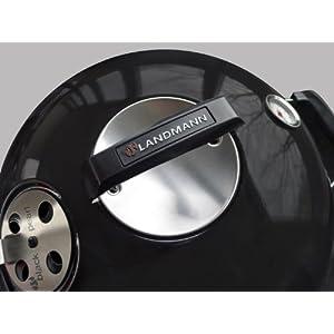 417B0GClxCL. SS300  - Landmann 31341 Black Pearl Comfort Quality 48cm Kettle Barbecue