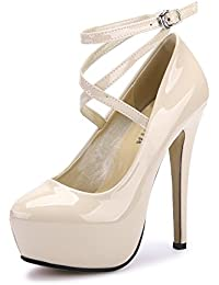 Baratos esTacones Zapatos Altos 44 Para Amazon Mujer qjLc5S43AR