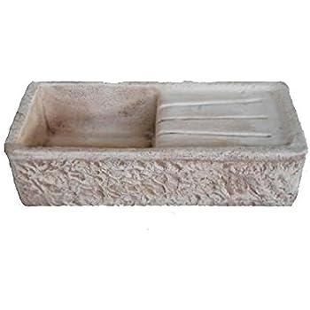 sp lbecken aus beton waschbecken fontana ma e 80 x 40 h20 cm garten. Black Bedroom Furniture Sets. Home Design Ideas