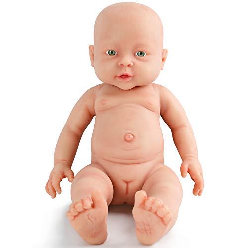 Vollence Poupée Reborn bébé réaliste 40 cm, sans PVC, Silicone...