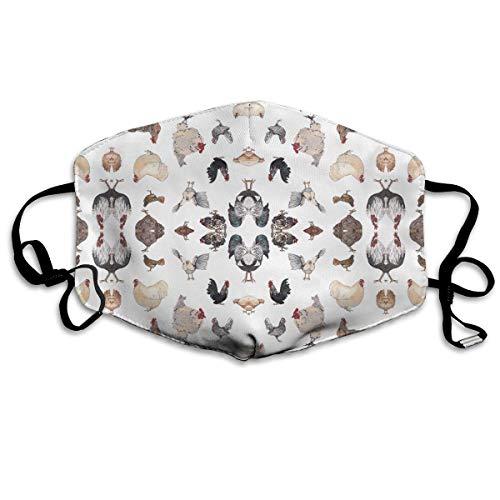 Preisvergleich Produktbild Nicegift Chicken Happy Gesichtsmasken,  atmungsaktiv,  Staubfilter,  Masken mit elastischer Ohrschlaufe